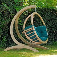 Product photograph showing Globo Garden Hanging Chair Stand In Green