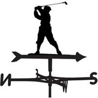 Golf Weathervane - Large (Traditional)