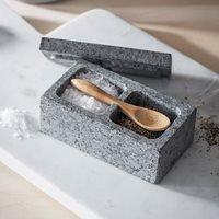 Product photograph showing Garden Trading Granite Salt Pepper Pinch Pot