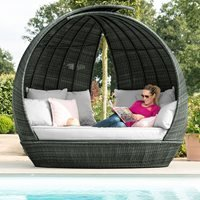 Maze Rattan Lotus Daybed - Brown