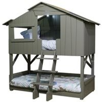 Mathy by Bols Treehouse Bunk Bed in Artichoke - Mathy Summer Pink