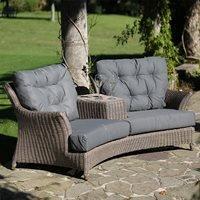 Linden Rattan Garden Love Seat