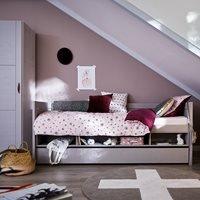 Product photograph showing Lifetime Kids Single Cabin Bed - Lifetime Whitewash