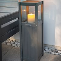 Grigio Candle Garden Lantern