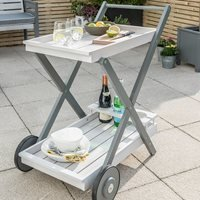 Product photograph showing Grigio Garden Tea Trolley