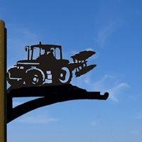 Hanging Basket Bracket in Ploughing Tractor Design - Large