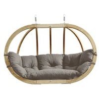 Product photograph showing Globo Royal Garden Hanging Chair In Weatherproof Taupe