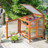 Product photograph showing Rowlinson Hardwood Coldframe Greenhouse
