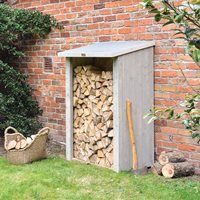 Product photograph showing Rowlinson Heritage Garden Log Store In Washed Grey