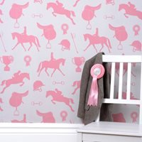 Girls Wallpaper in Gymkhana Coral Pink