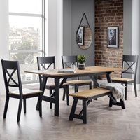 Product photograph showing Julian Bowen Hockley Dining Set With Bench