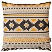 Product photograph showing Icon Boho Aztec Ochre Outdoor Cushion
