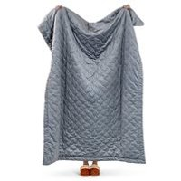 Icon Quilted Velvet Throw - Teal Green