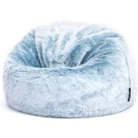 Product photograph showing Icon Kids Faux Fur Bean Bag Chair - Cream