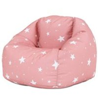 Product photograph showing Icon Kids Star Print Bean Bag Chair