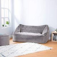 Product photograph showing Icon Milano Velvet Loveseat Bean Bag - Navy Blue