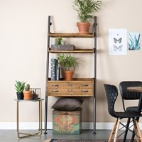 Rook Industrial Wall Shelf with 1 Drawer