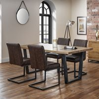 Julian Bowen Brooklyn Dining Set with Brooklyn Chairs - 6 Chairs