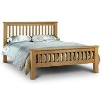 Julian Bowen Amsterdam Bed Frame in Oak with High Foot End - Double