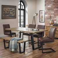 Julian Bowen Brooklyn Dining Set with 4 Chairs and Bench