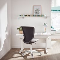 Product photograph showing Lifetime Kids Adjustable Desk With Optional Storage Drawer - Lifetime Whitewash