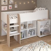 Product photograph showing Parisot Finland Mid Sleeper With Desk Storage