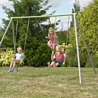 TP Toys Triple Metal Garden Swing Set