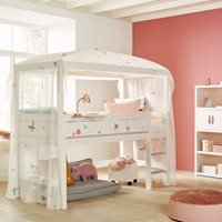 Lifetime Fairy Dust Mid Sleeper Four Poster Bed - Lifetime Greywash