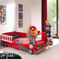 Product photograph showing Fire Truck Toddler Bed