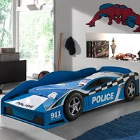 Product photograph showing Police Car Toddler Bed