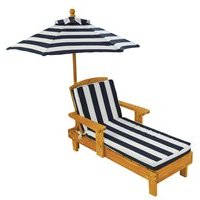 Product photograph showing Kidkraft Outdoor Chaise With Umbrella