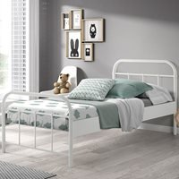 Boston Metal Kids Single Bed in White