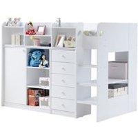 Kids Wizard High Sleeper Storage Bed in White