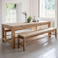 Product photograph showing Garden Trading Brookville Table Bench Dining Set
