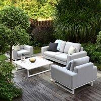 Maze Rattan Ethos 2 Seat Sofa Set with Coffee Table - Flanelle Grey
