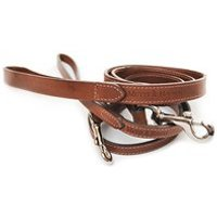 Product photograph showing Dog Lead In Slim Leather Design