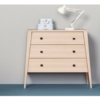 Leander Linea 3 Drawer Dresser in Beech
