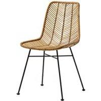 Bloomingville Rattan Lena Dining Chair - Black