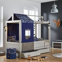 Lifetime Blue Camo Four Poster Bed - Lifetime Greywash