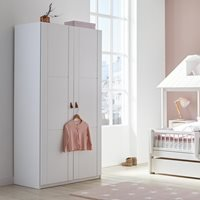 Lifetime Customisable Double Wardrobe - Lifetime Whitewash