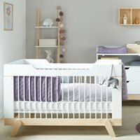 Product photograph showing Lifetime Baby Cot Bed In White Birch