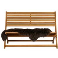 Lois Wooden Lounge Bench by Woood