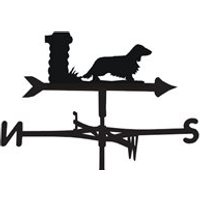 Weathervane in Long Haired Dachshund Design - Large (Traditional)