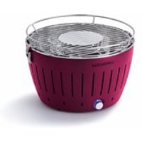 Product photograph showing Lotus Grill Bbq In Plum With Free Lighter Gel Charcoal