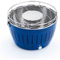 Lotus Grill BBQ in Blue with Free Fire Lighter Gel and Charcoal