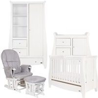 Tutti Bambini Lucas Cot Bed 5 Piece Nursery Set in White