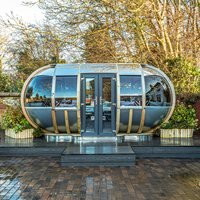 Product photograph showing Large Oval House Garden Pod - Dune