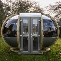 Product photograph showing Medium Oval House Garden Pod - Dune