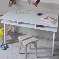 Product photograph showing Mathy By Bols Kids Desk In Madavin Design - Mathy Marseille Blue