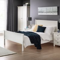 Julian Bowen Maine Wooden Bed in Surf White - King